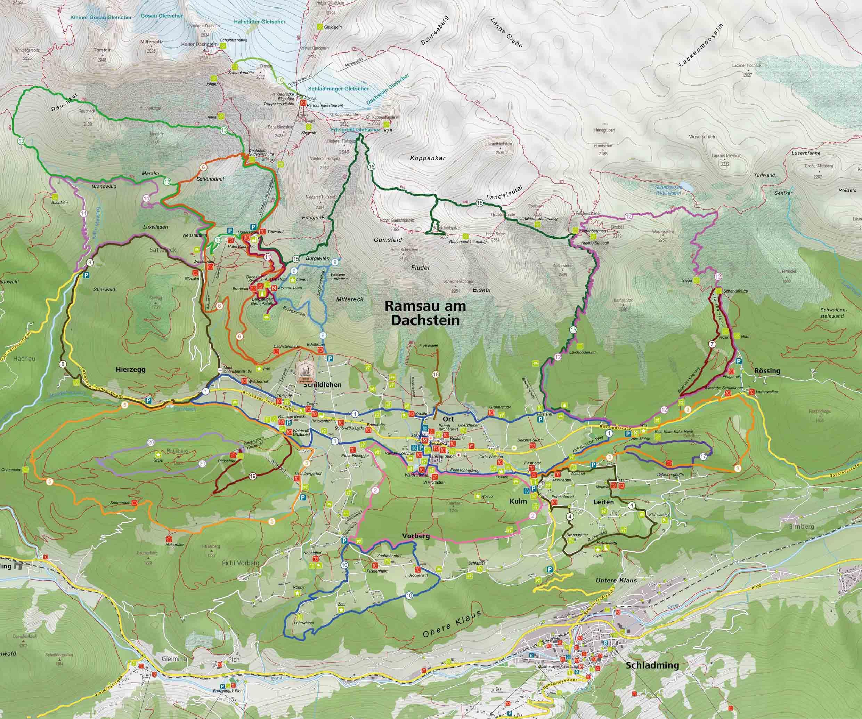 Lageplan Stoffenbauer Ramsau